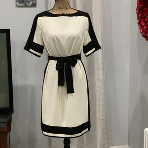 Ann Taylor colorblock belted dress size M